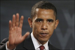 """An angry President Obama says """"STOP"""" to the press"""